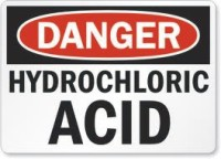 Hydrochloric Acid warning label