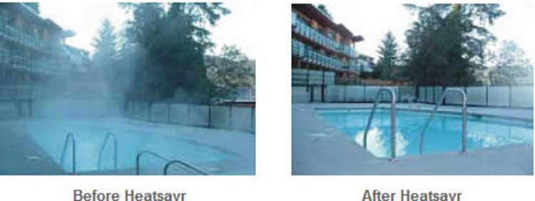 Liquid Pool Cover before and after