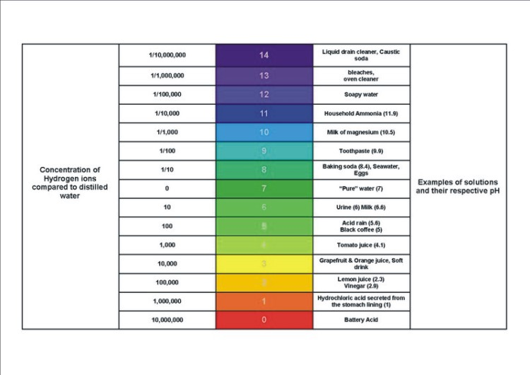 pH Scale diagram
