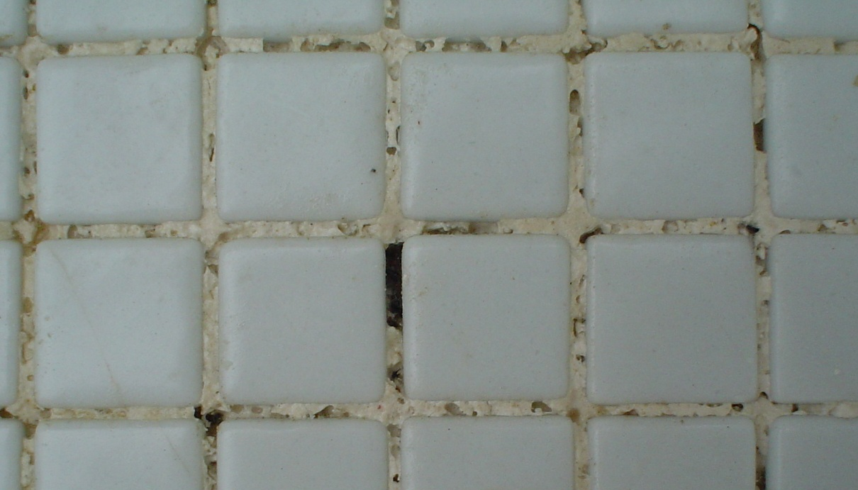 eroded grout due to low TA